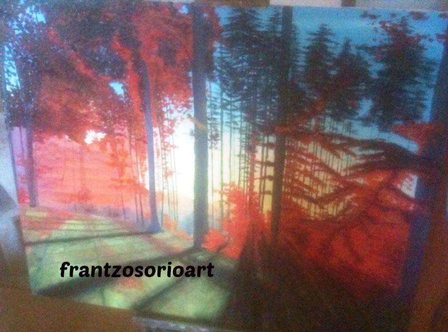 peinture à l`huile ombre et lumière