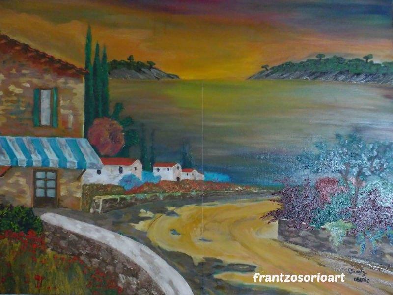Provence Tableau Peinture à l'huile H70XL90